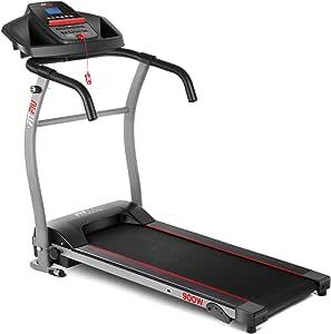 FITFIU Fitness MC-100 Cinta de correr plegable con velocidad ajustable hasta 10km/h, inclinación manual, superficie de carrera de 31x102cm, motor de 900w y pantalla LCD