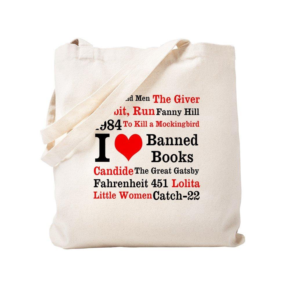 CafePress - Love Banned Books - Natural Canvas Tote Bag, Cloth Shopping Bag