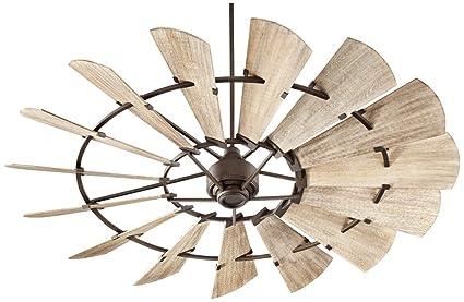 72 windmill ceiling fan oiled bronze quorum 9721586 indoor windmill ceiling fan in oiled bronze with weathered oak blades