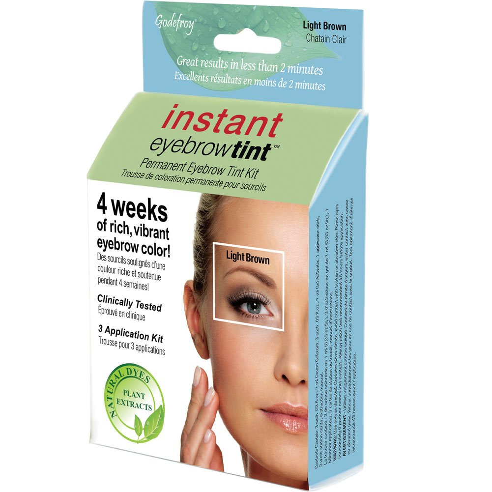 Godefroy Instant Eyebrow Tint Natural Plant Based Dyes Medium Brown