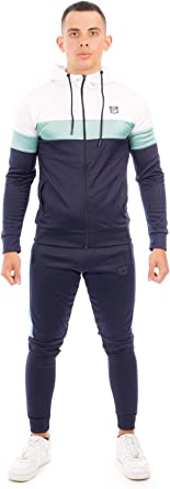 MAX CARTER LONDON Men,s Stretch Polyester Tracksuit Jogging Suit//Gym Wear Style Florida