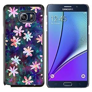 Stuss Case / Funda Carcasa protectora - Dibujo floral iridiscente Femenino - Samsung Galaxy Note 5