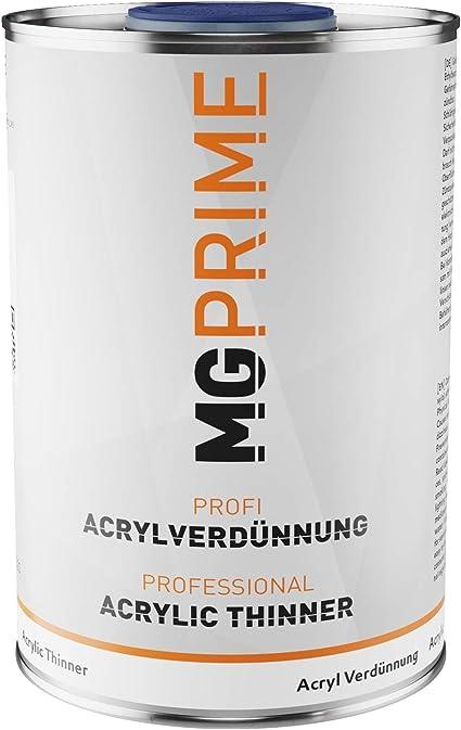 Mg Prime 1 Liter 1k 2k Acrylverdünner Acrylverdünnung Für Autolack Basislack Klarlack Füller Grundierung Auto