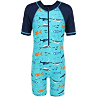 HUAANIUE Boys Swimsuits Rash Guard One Piece UPF50+ Swimwear