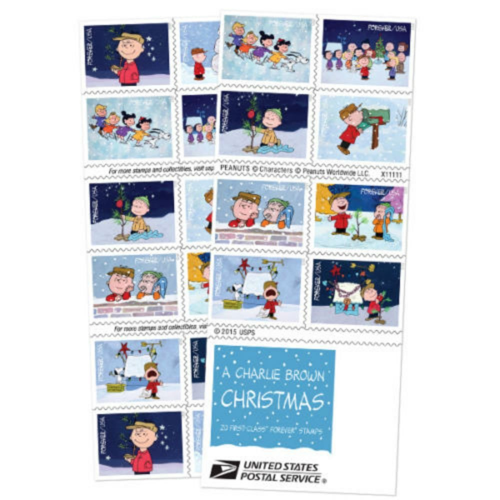A Charlie Brown Christmas Forever Stamp Booklet of 20 by Unbranded (Image #1)