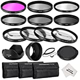 Neewer® 67MM Complete Lens Filter Accessory Kit for CANON EOS 70D 60D 7D 6D EOS 700D 650D 600D 550D/T5i T4i T3i T3 T2i DSLR Cameras, Kit includes:(1)Filter Kit (UV, CPL, FLD) + (1)Macro Close-up Filter Set (+1, +2, +4, +10) + (1)Altura Photo ND Neutral Density Filter Set (ND2, ND4, ND8) + (1)3-in-1 Collapsible Lens Hood + (1)Tulip Lens Hood + (1)Snap-on Front Lens Cap + (1)Cap Keeper Leash + (3)Filter Carrying Pouches + (1)Microfiber Cleaning Cloth