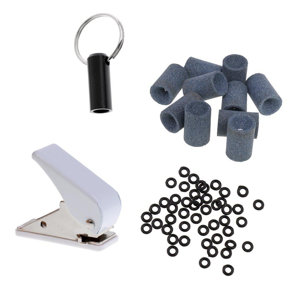 baoblaze安全ヒントダーツセットwith DartフライトPunchers長方形穴パンチAccessorie , DartチップガスケットOリングBroken Shaft Remover Millstone   B07B5R6GWF