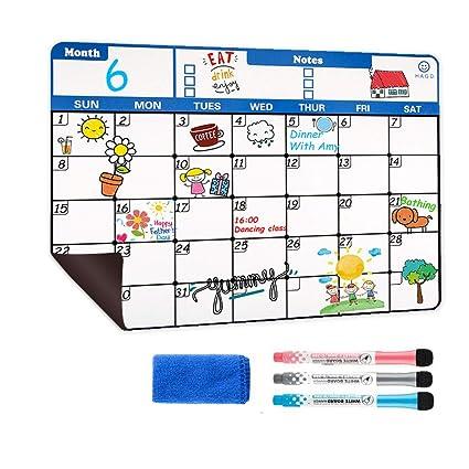 Calendario magnético de borrado en seco, calendario magnético para ...