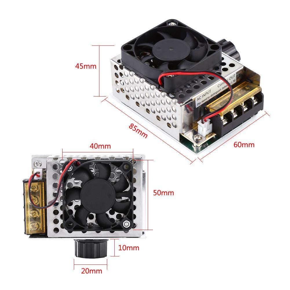 Regolatore di tensione del regolatore di velocit/à del motore di Dimmer di velocit/à del regolatore elettrico di CC di CA 220V con il ventilatore 4000W