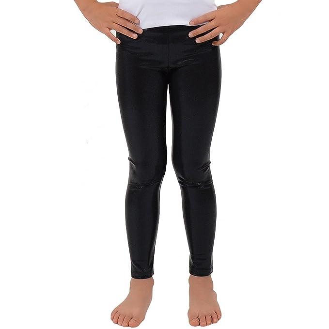 25b18676202b2 GirlzWalk Kids Girls Stretch Shiny Metallic Wet Look Fancy Leggings  Children Mystique Pants: Amazon.co.uk: Clothing