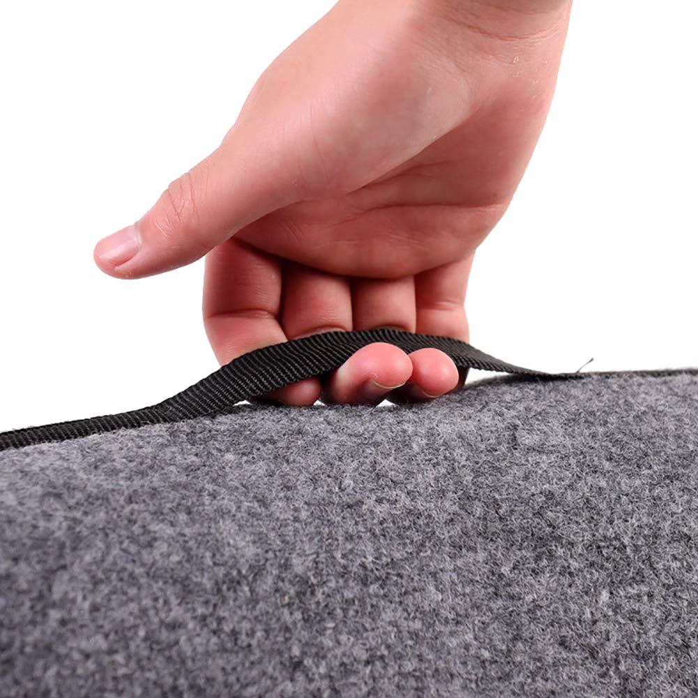 Large Thicken Felt Storage Box Holder Universal Auto Trunk Organizer Foldable Gadget First Aid Storage Bag for Car//SUV////Jeep//Van//Truck SND21