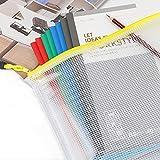 EOOUT Mesh Zipper Pouch Document Bag, Plastic Zip