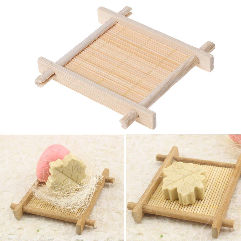 Lunji bamb/ù naturale/ /bagno portasapone Holder Storage