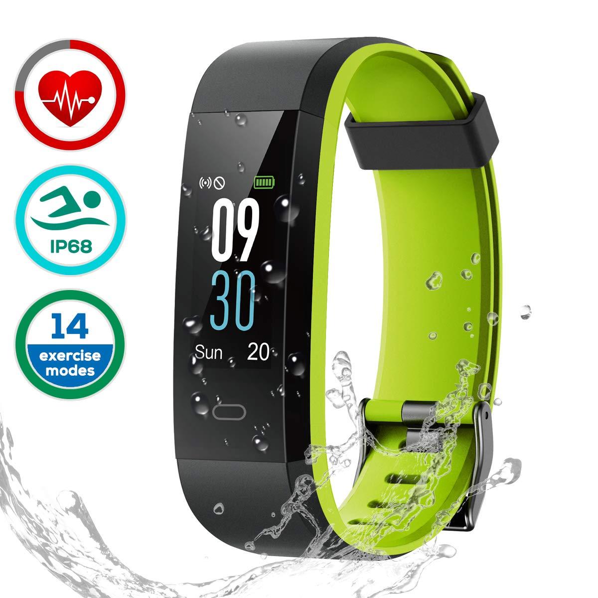 LATEC Montre Connectée, Fitness Tracker Podometre Smartwatch Bracelet Connecté IP68 Imperméable Tracker d'activité Moniteur de fréquence Cardiaque product image