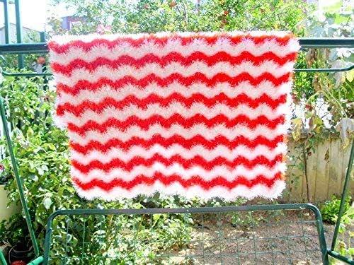 handmade soft baby blanket, crochet baby blanket, V stich ripple crochet blanket, handmade ...