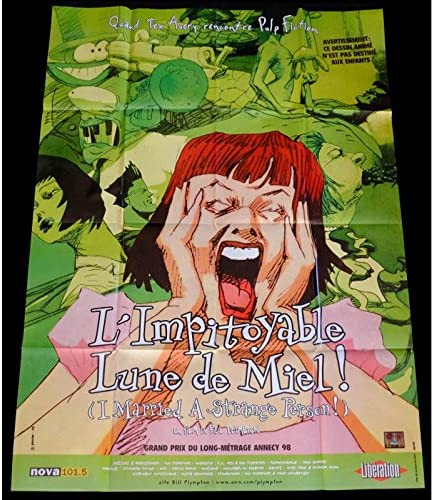 Mauvais Genres I Married A Strange Person French Movie Poster 47x63 1997 Bill Plympton Charis Michelsen Amazon Co Uk Kitchen Home