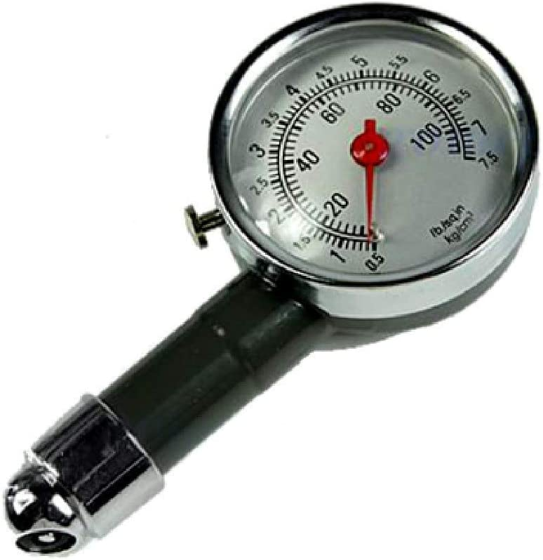 Anano Hand Car Metal Tire Pressure Gauge,Aut o Car Repair Test Air Pressure Meter Tester Diagnostic Tool Second High Precision