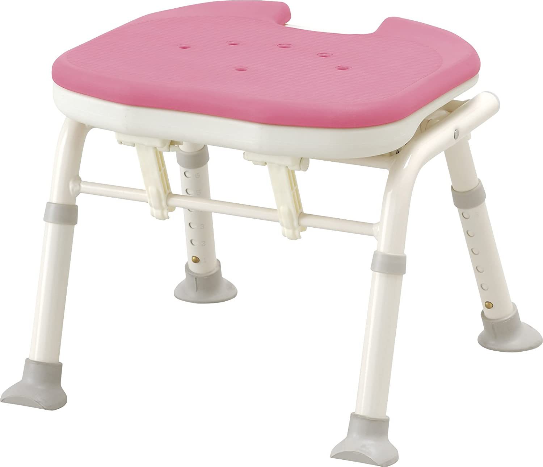 アロン化成 安寿 コンパクト折りたたみシャワーベンチ IC 背無しタイプ ピンク B003H6CMFU 背無しタイプ ピンク 背無しタイプ ピンク