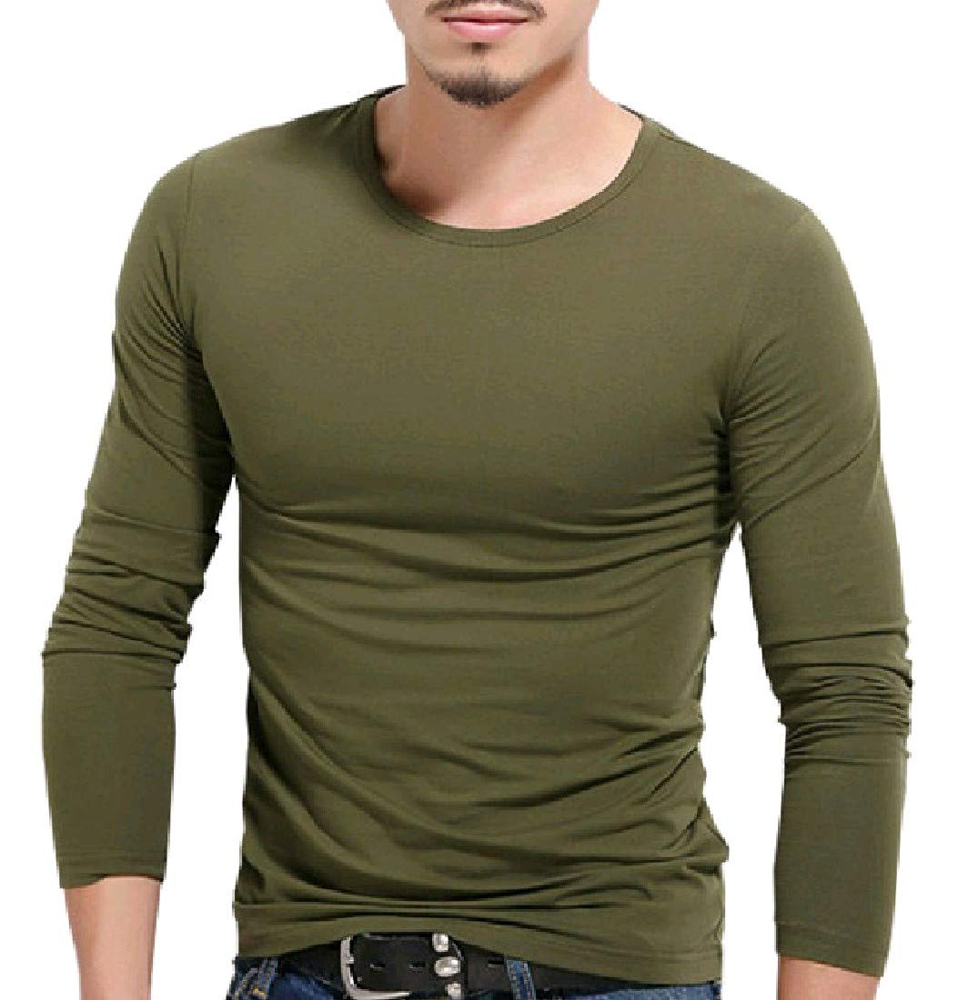 Zimaes-Men Soft Chic Cozy Pullover Oversize Tees Top Tshirts 1 S