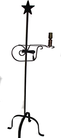 Amazon wrought iron floor lamp star top amish made home wrought iron floor lamp star top amish made mozeypictures Choice Image