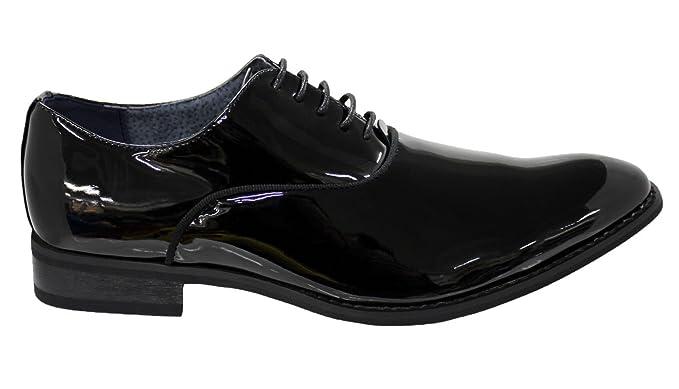 separation shoes ea75c 1dffb Eleganti scarpe uomo nero lucido vernice calzature cerimonia ...