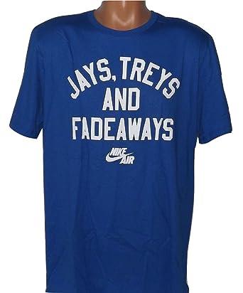 96355e0b ... Air Nike Mens Jays,Treys and Fadeaways T-Shirt Blue Black 885044-480 ...