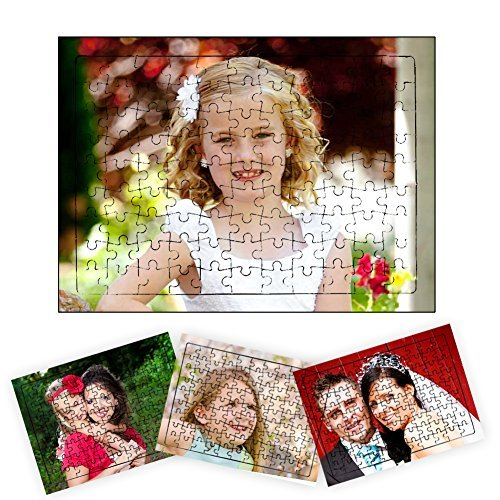 picontshirt Personalized Photo Print Jigsaw Puzzle A4 Size 99 Pieces with Self Stand ()