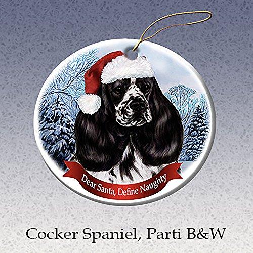 Holiday Pet Gifts Black & White Cocker Spaniel