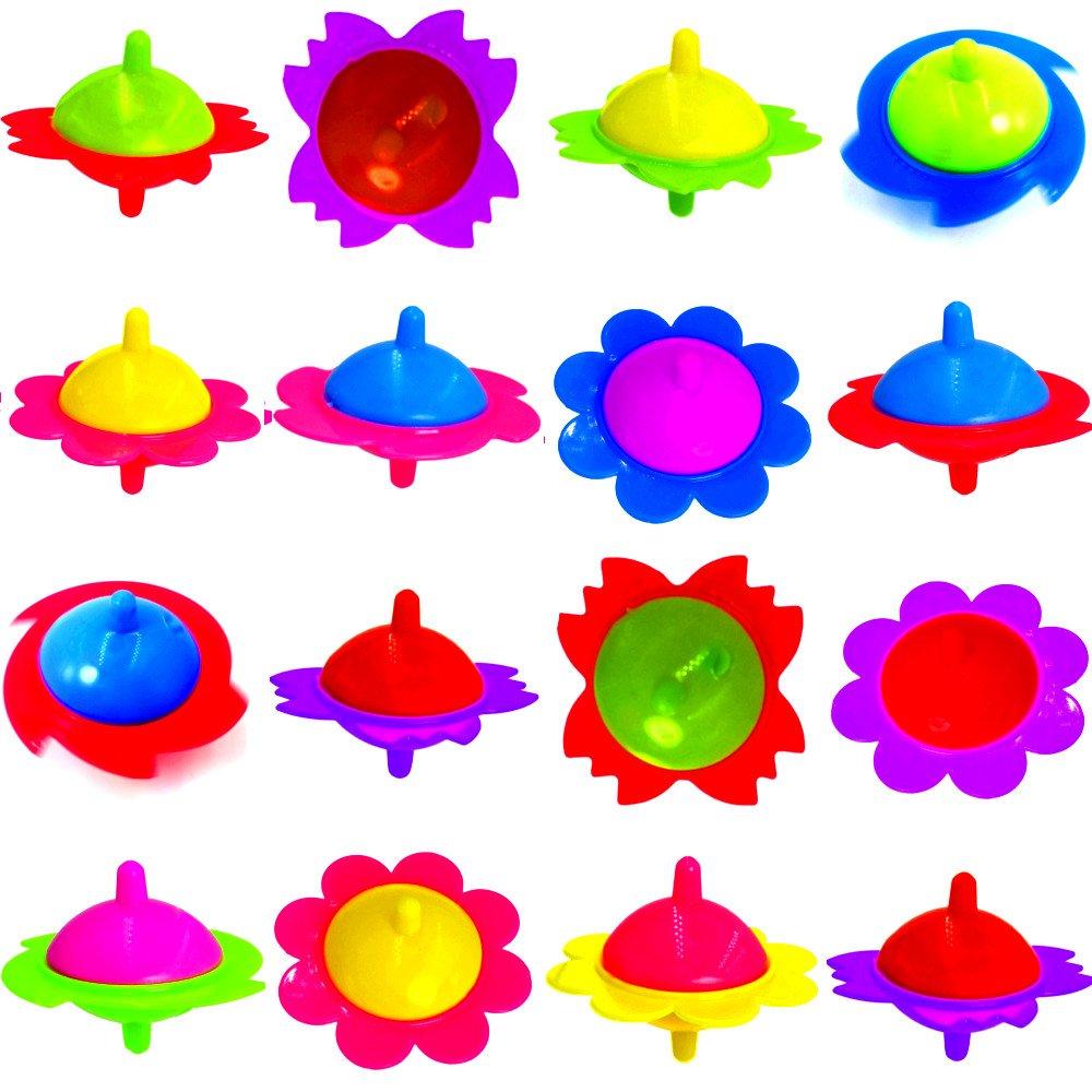 German Trendseller® - 12 x toupies de la fête┃coloré┃des formes amusantes┃l'anniversaire d'enfants┃ petit cadeau