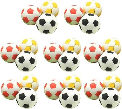 STOBOK miniaturas de fútbol 24pcs borradores de fútbol deporte de ...