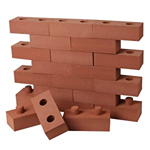 """Build Me STEM Brick Building Blocks for Kids, 25 Piece Foam Block Builders Set for Construction and Stacking - 8"""" Pretend Play Bricks for Kids Toddlers"""