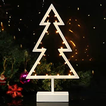 Delightful BRIGHT ZEAL LED Tabletop Lighted Christmas Tree (15u0026quot; Tall Christmas  Tree Shape, 6hr