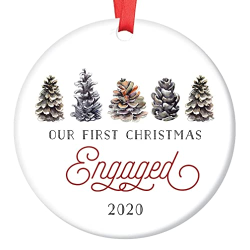 2020 Feince Christmas Gifts Amazon.com: First Christmas Engaged Ornament 2020 Pretty Winter