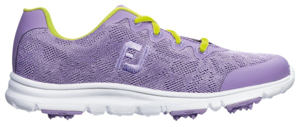 FootJoy Junior Girl's Enjoy Spikeless Golf Shoes, Closeout, Lavender, 4 Medium 48205