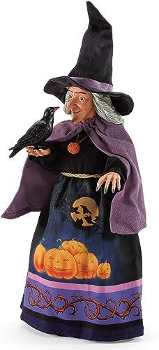 Department 56 Possible Dreams Jim Shore Halloween Raven s Spell Figurine, 20 Inch, Multicolor