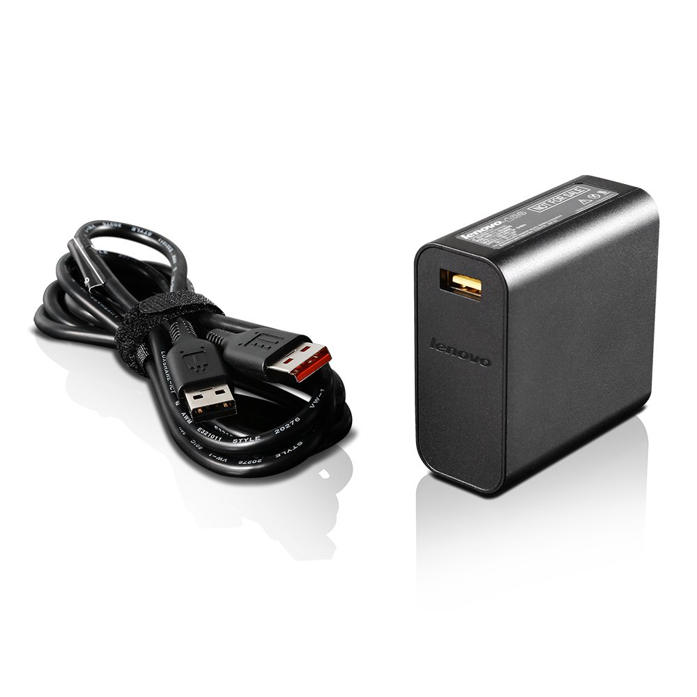 Lenovo 65W Slim Travel AC Adapter, Black (GX20K15992)