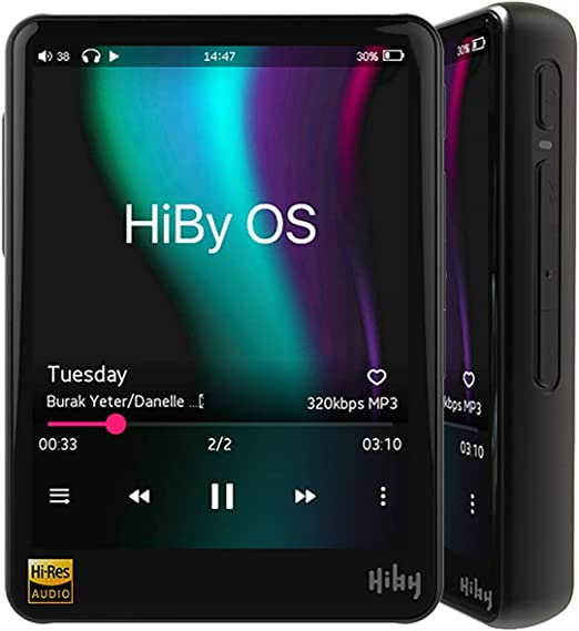 Black HiBy R3 Pro Portable Music Player PU Leather Case