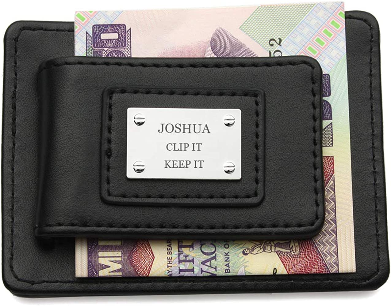 Personalized Engraving Included Money Clip Wallet Fox