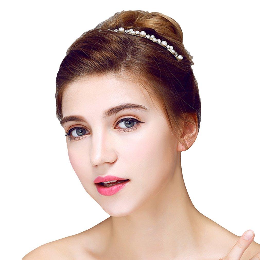 YAZILIND Elegant Headdress Bridal Crown Headband Bead Cubic Zorconia Wedding Hair Accessories Women and Girls YAZILIND JEWELRY LTD 1703T0015/CA/CA