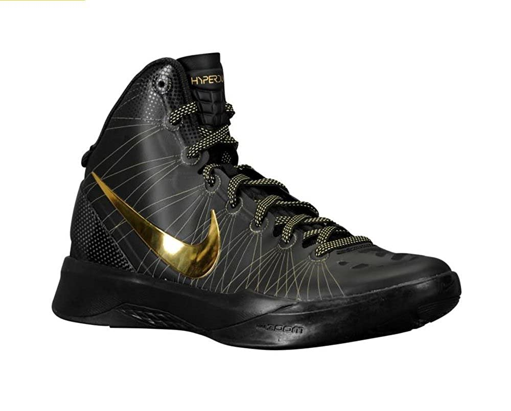 best website 11358 67e80 Amazon.com   Nike Basketball Elite Series (Zoom Hyperdunk Elite) Black Metallic  Gold (13)   Basketball