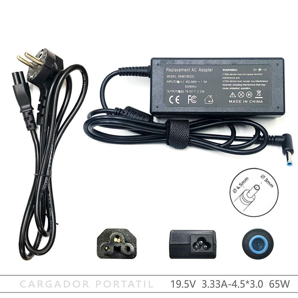 FOXLIVE Cargador HP 19.5V 3.33A 4.5 x 3.0mm 65W: Amazon.es ...