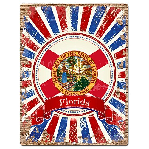 usa-florida-state-flag-chic-sign-rustic-vintage-retro-kitchen-bar-pub-coffee-shop-aluminum-metal-sig