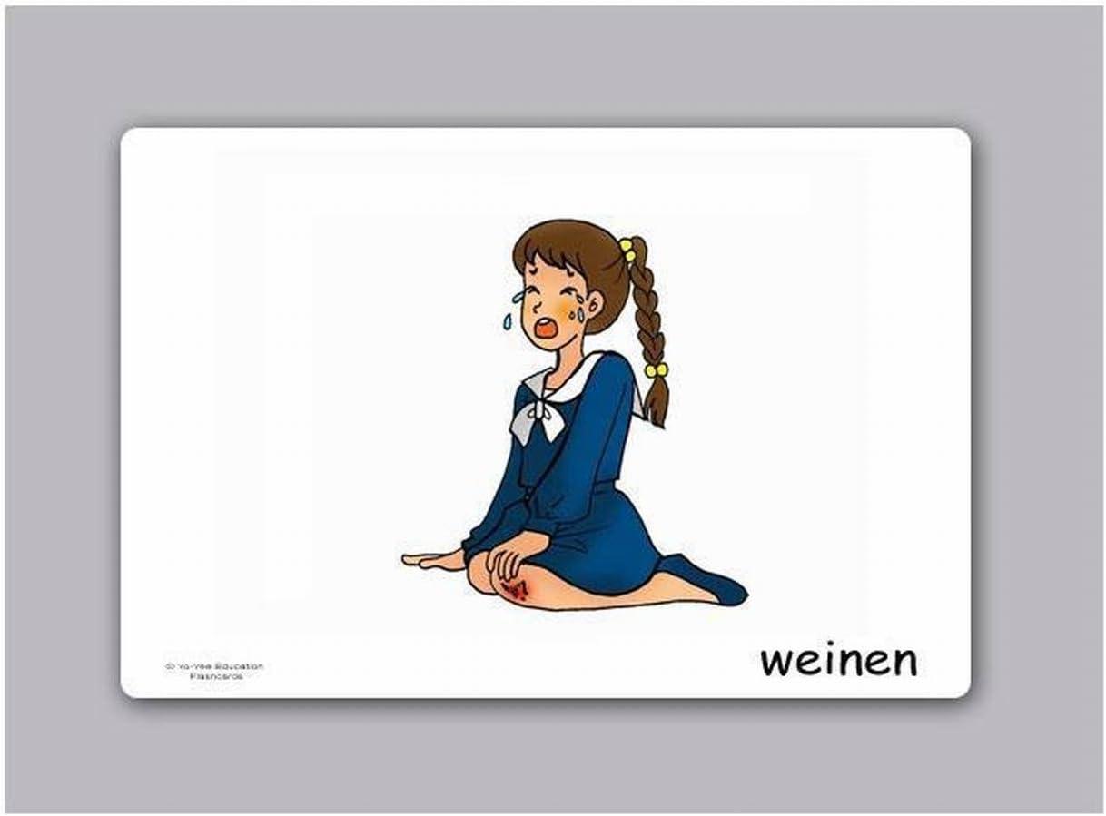 F/ür Sprachunterricht und Sprachf/örderung in Grundschulen Yo-Yee Flashcards Bildkarten Verben 2