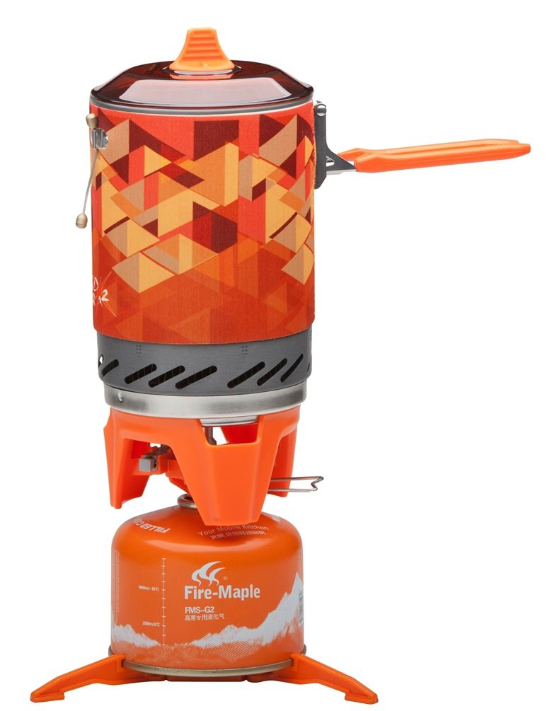 Fire Maple Camping Stove FMS-X2 Compact One Piece Heat Exchanger Pot Exchanger Pot Camping Equipment Cooking System