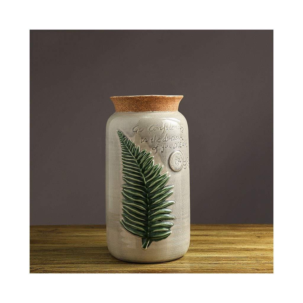 セラミック花瓶北欧クリエイティブリビングルーム花瓶アメリカのレトロなテーブルの花の装飾 (Edition : B) B07T3JVWVV  B