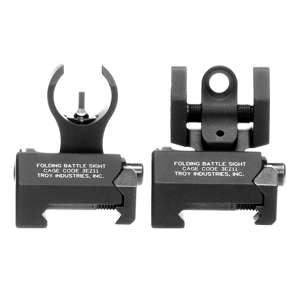 Troy Industries Micro HK Style Front and Rear Folding Battle Sight (Black) by Troy Industries