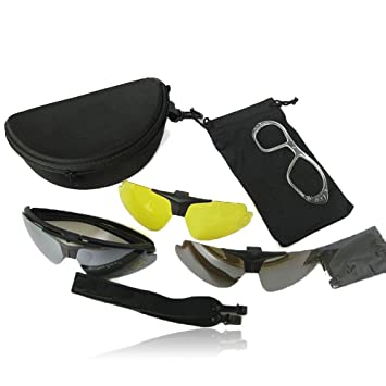 Ciondoli C1 Tactical Goggles Desert 3 Lenses Outdoor Uv400 Protection Eyewear Hunting Military Camping Hiking Glasses Orologi E Gioielli