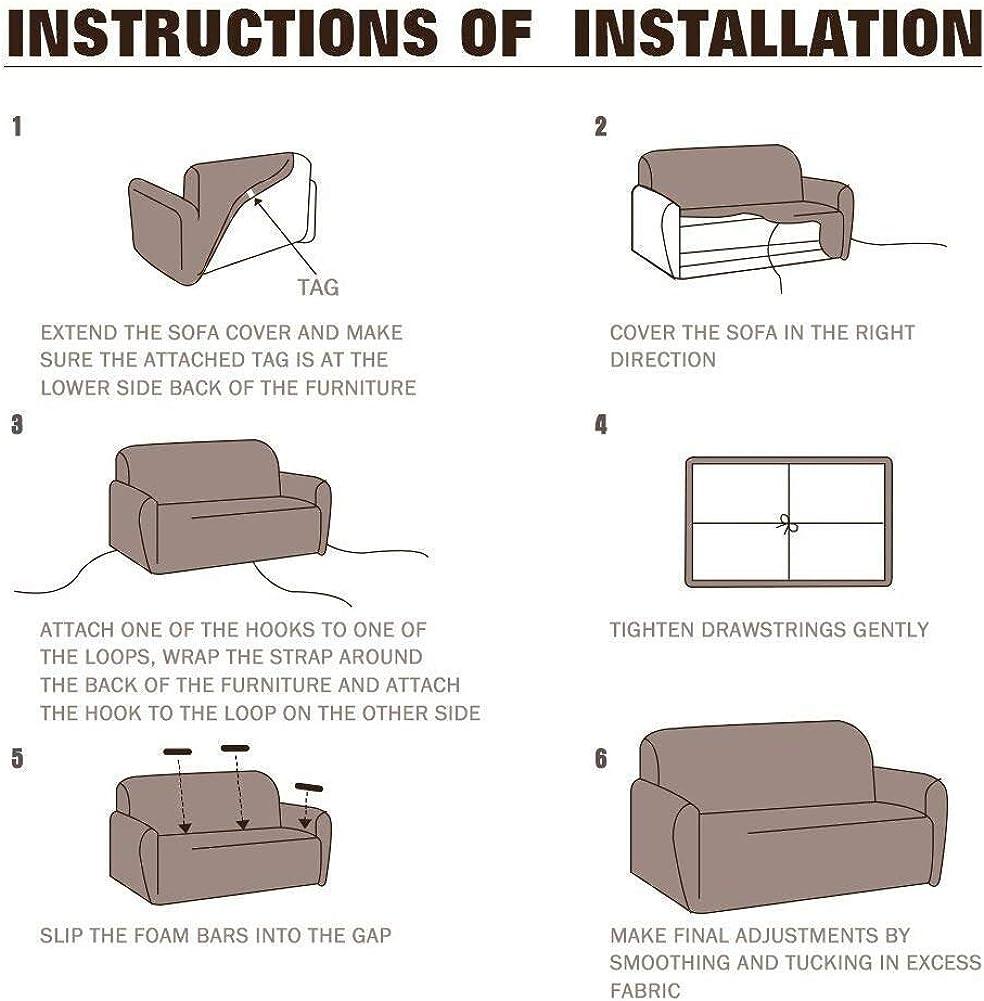 Copridivano in tessuto elasticizzato, per divano da 1-2-3-4 posti Classical
