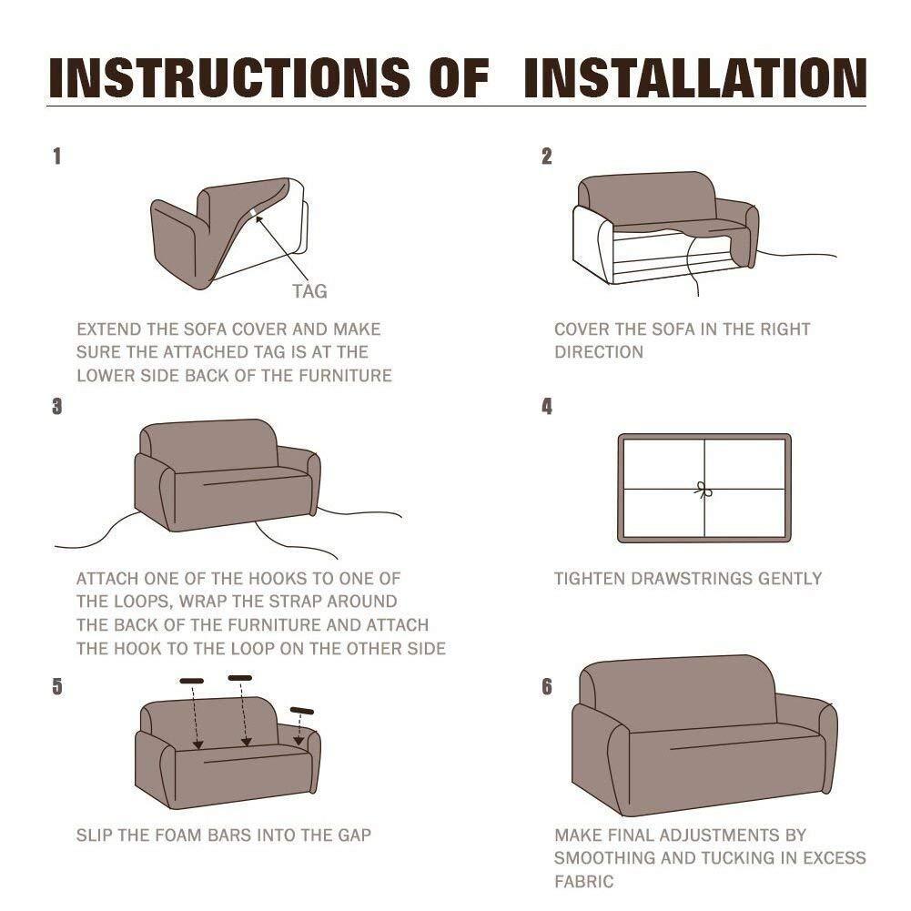 per divano da 1-2-3-4 posti Copridivano in tessuto elasticizzato