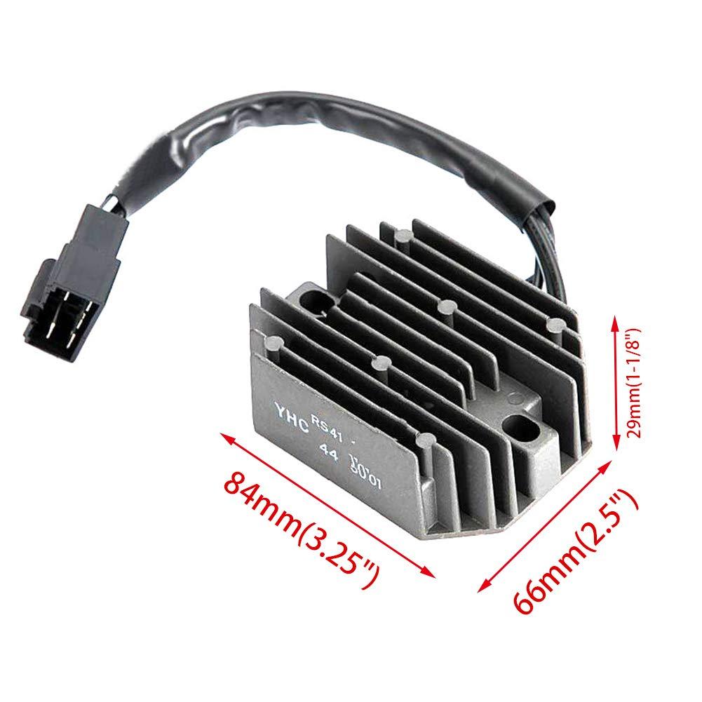 adatta per Suzuki BURGMAN AN250/AN400/regolatore raddrizzatore prevenire over-charging dissipatore di calore pinne auto forniture Regolatore di tensione raddrizzatore nero